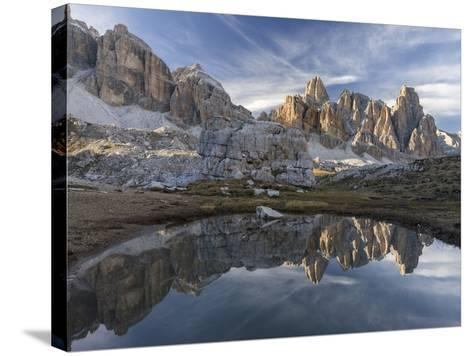 The Fanis Mountains Seen from Val Travenanzes , the Dolomites Near Cortina D'Ampezzo-Martin Zwick-Stretched Canvas Print