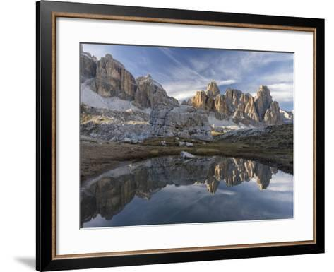 The Fanis Mountains Seen from Val Travenanzes , the Dolomites Near Cortina D'Ampezzo-Martin Zwick-Framed Art Print