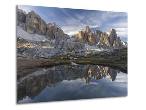 The Fanis Mountains Seen from Val Travenanzes , the Dolomites Near Cortina D'Ampezzo-Martin Zwick-Metal Print