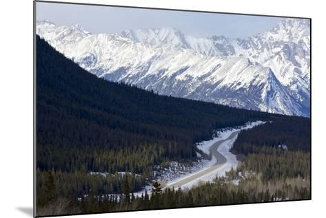 Canada, Alberta, Kootenay Plains. Road Through Mountain Landscape-Jaynes Gallery-Mounted Photographic Print
