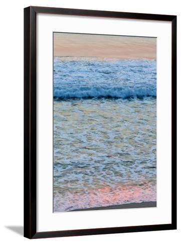 Dawn Colors Reflect in the Surf on Marconi Beach in the Cape Cod National Seashore-Jerry and Marcy Monkman-Framed Art Print