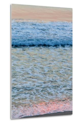 Dawn Colors Reflect in the Surf on Marconi Beach in the Cape Cod National Seashore-Jerry and Marcy Monkman-Metal Print