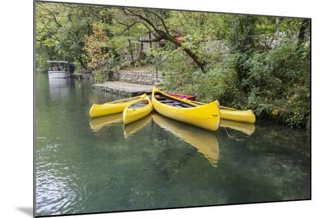 Canoes. Croatia, Europe-Tom Norring-Mounted Photographic Print