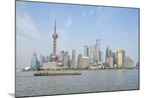 Pudong District Skyline with Shipping on the Huangpu River, Shanghai, China-Michael DeFreitas-Mounted Photographic Print
