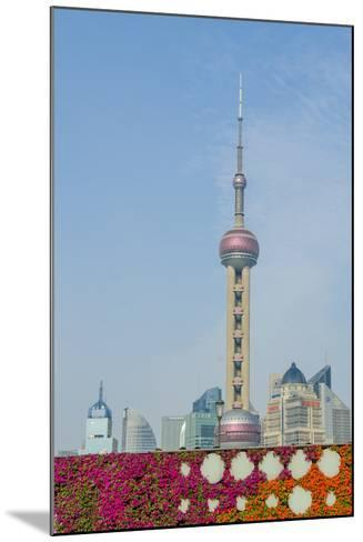 The Bund Gardens with Pearl Tower over Pudong District Skyline Shanghai, China-Michael DeFreitas-Mounted Photographic Print