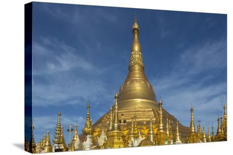 Myanmar, Yangon. Golden Stupa and Temples of Shwedagon Pagoda-Brenda Tharp-Stretched Canvas Print