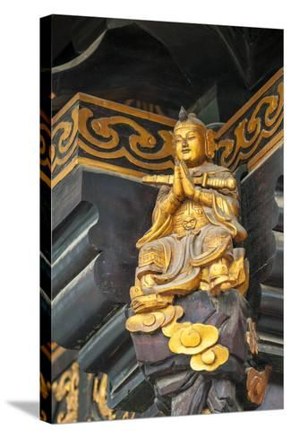 Decorative Details at the Wild Goose Pagoda, Xian, China-Michael DeFreitas-Stretched Canvas Print