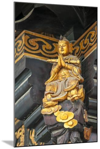 Decorative Details at the Wild Goose Pagoda, Xian, China-Michael DeFreitas-Mounted Photographic Print