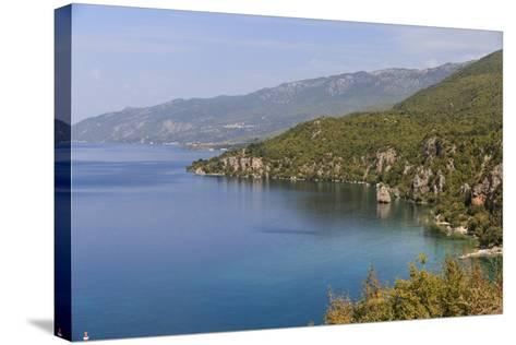 Macedonia, Ohrid and Lake Ohrid, Coastline Landscape-Emily Wilson-Stretched Canvas Print