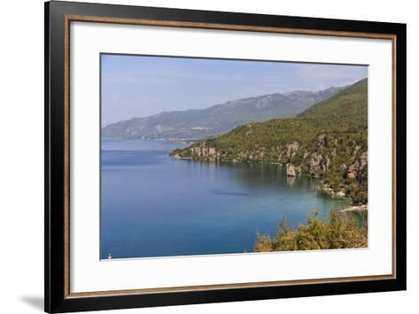 Macedonia, Ohrid and Lake Ohrid, Coastline Landscape-Emily Wilson-Framed Art Print