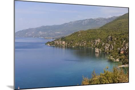 Macedonia, Ohrid and Lake Ohrid, Coastline Landscape-Emily Wilson-Mounted Photographic Print