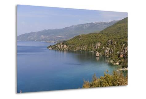 Macedonia, Ohrid and Lake Ohrid, Coastline Landscape-Emily Wilson-Metal Print