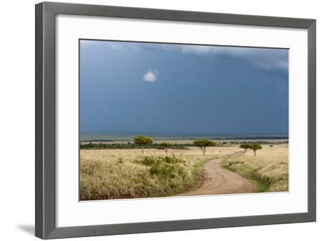 A Rainstorm Approaching in the Masai Mara Plains, Kenya-Sergio Pitamitz-Framed Art Print