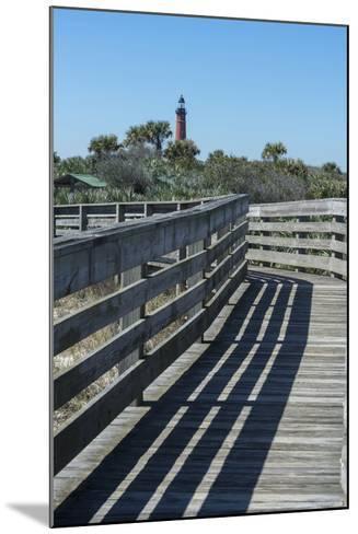 Florida, New Smyrna Beach, Smyrna Dunes Park, Boardwalk, Ponce Inlet Lighthouse-Jim Engelbrecht-Mounted Photographic Print