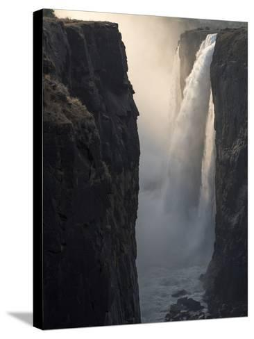 Africa, Zimbabwe, Victoria Falls. Close-Up of Waterfall and Spray at Sunrise-Jaynes Gallery-Stretched Canvas Print
