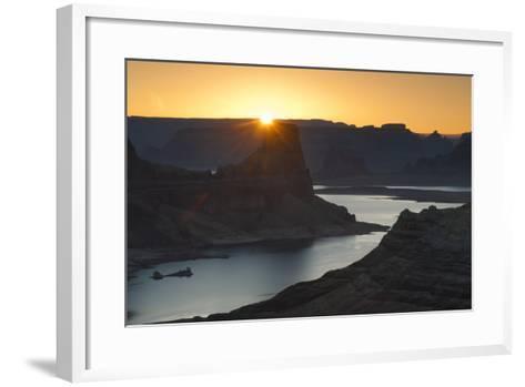 Utah, Glen Canyon National Recreation Area. View from Alstrom Point Overlook, Gunsight Butte-Judith Zimmerman-Framed Art Print