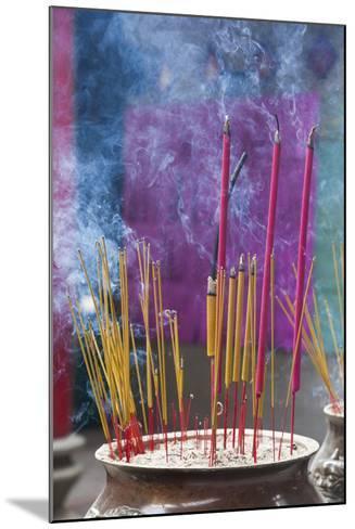Vietnam, Ho Chi Minh City. Cholon, Chinatown Area, Thien Hau Pagoda, Burning Incense-Walter Bibikow-Mounted Photographic Print