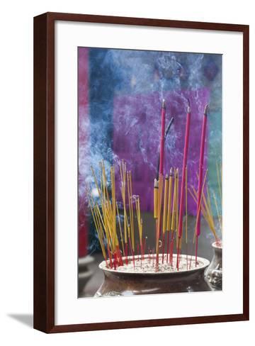Vietnam, Ho Chi Minh City. Cholon, Chinatown Area, Thien Hau Pagoda, Burning Incense-Walter Bibikow-Framed Art Print