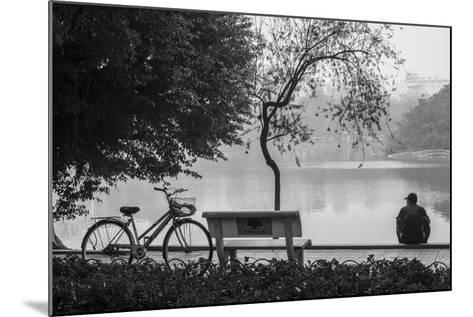 Vietnam, Hanoi. Hoan Kiem Lake with People-Walter Bibikow-Mounted Photographic Print