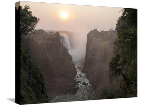 Africa, Zimbabwe, Victoria Falls. View of Waterfalls at Sunrise-Jaynes Gallery-Stretched Canvas Print