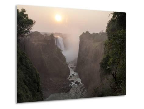 Africa, Zimbabwe, Victoria Falls. View of Waterfalls at Sunrise-Jaynes Gallery-Metal Print