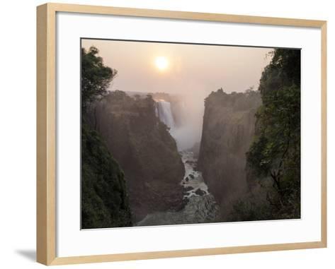 Africa, Zimbabwe, Victoria Falls. View of Waterfalls at Sunrise-Jaynes Gallery-Framed Art Print