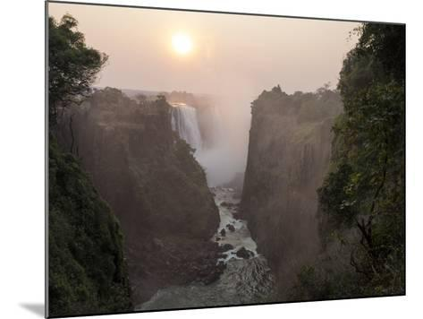 Africa, Zimbabwe, Victoria Falls. View of Waterfalls at Sunrise-Jaynes Gallery-Mounted Photographic Print