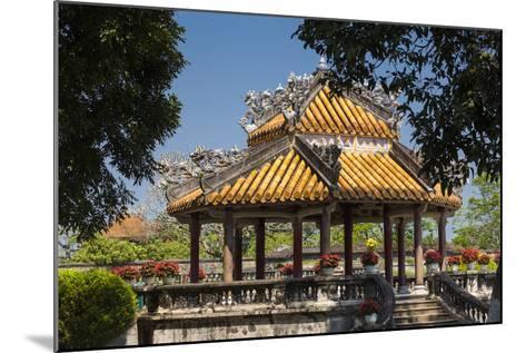 Vietnam, Hue Imperial City. Ruins of the Purple Forbidden City, Garden Gazebo-Walter Bibikow-Mounted Photographic Print
