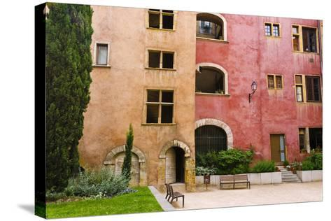 The Lawyers House in Old Town Vieux Lyon, France-Russ Bishop-Stretched Canvas Print