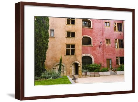 The Lawyers House in Old Town Vieux Lyon, France-Russ Bishop-Framed Art Print