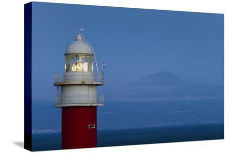 Spain, Faro Punta De San Cristobal Lighthouse-Walter Bibikow-Stretched Canvas Print