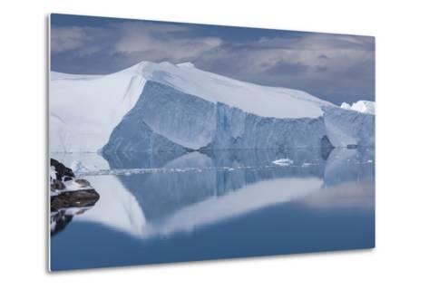 Greenland, Disko Bay, Ilulissat, Elevated View of Floating Ice-Walter Bibikow-Metal Print