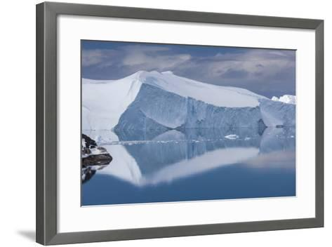Greenland, Disko Bay, Ilulissat, Elevated View of Floating Ice-Walter Bibikow-Framed Art Print
