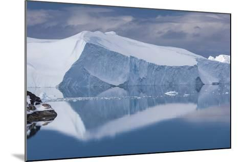Greenland, Disko Bay, Ilulissat, Elevated View of Floating Ice-Walter Bibikow-Mounted Photographic Print