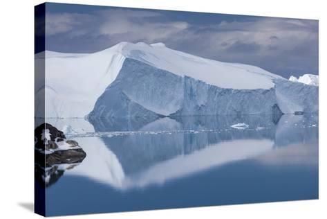 Greenland, Disko Bay, Ilulissat, Elevated View of Floating Ice-Walter Bibikow-Stretched Canvas Print
