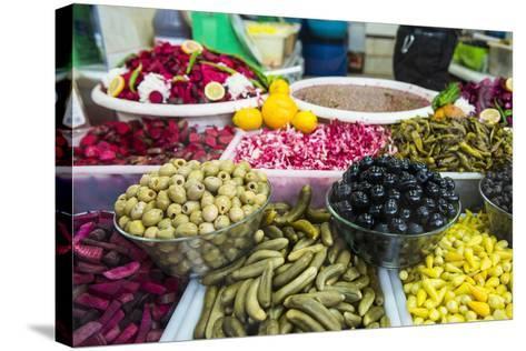 Kurdish Food in the Bazaar of Sulaymaniyah. Kurdistan, Iraq-Michael Runkel-Stretched Canvas Print