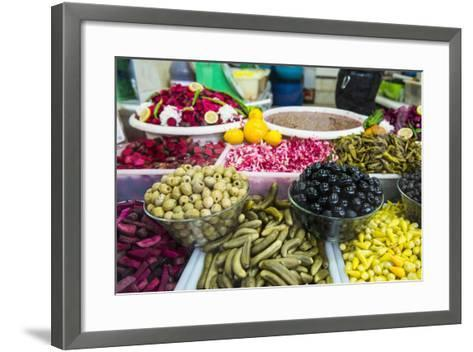 Kurdish Food in the Bazaar of Sulaymaniyah. Kurdistan, Iraq-Michael Runkel-Framed Art Print