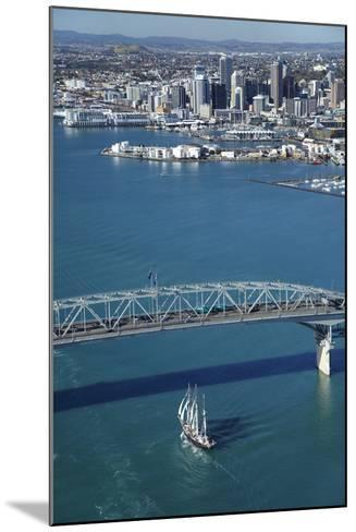 Spirit of New Zealand Tall Ship, Auckland Harbour Bridge, Auckland, North Island, New Zealand-David Wall-Mounted Photographic Print