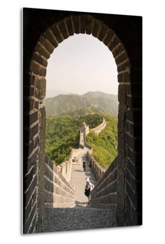 The Original Mutianyu Section of the Great Wall, Beijing, China-Michael DeFreitas-Metal Print