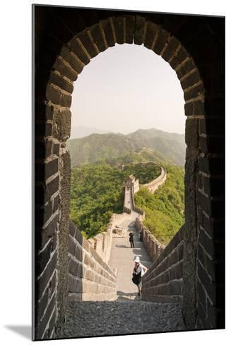 The Original Mutianyu Section of the Great Wall, Beijing, China-Michael DeFreitas-Mounted Photographic Print