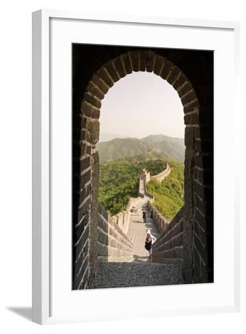 The Original Mutianyu Section of the Great Wall, Beijing, China-Michael DeFreitas-Framed Art Print