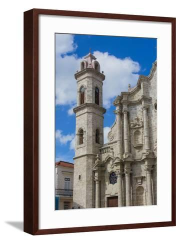 Cuba. Havana. Old Havana. Cathedral of the Virgin Mary of the Immaculate Conception, 1777-Inger Hogstrom-Framed Art Print