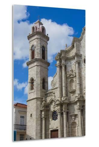 Cuba. Havana. Old Havana. Cathedral of the Virgin Mary of the Immaculate Conception, 1777-Inger Hogstrom-Metal Print