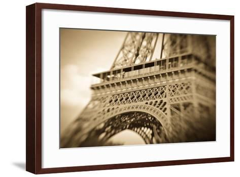 Detail of the Eiffel Tower, Paris, France-Russ Bishop-Framed Art Print