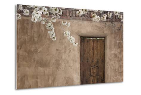 New Mexico, Santa Fe. Weathered Door to Home-Jaynes Gallery-Metal Print