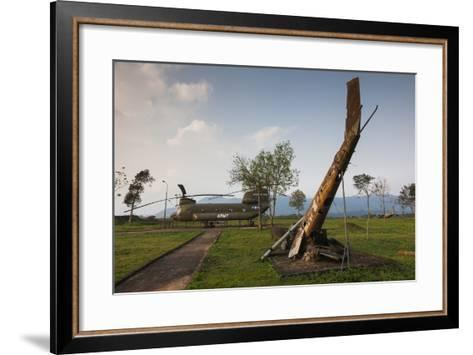 Vietnam, Dmz Area. Quang Tri Province, Khe Sanh, Fch-47 Chinook Helicopter-Walter Bibikow-Framed Art Print