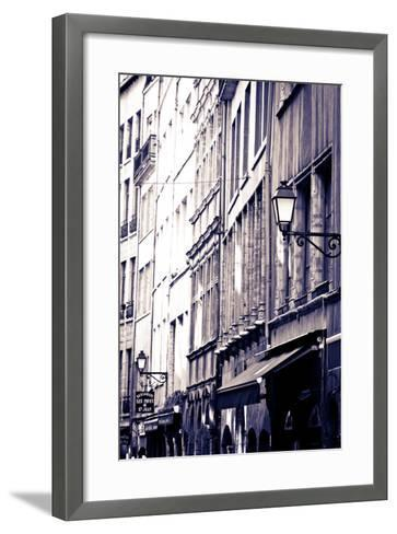 Restaurants and Galleries in Old Town Vieux Lyon, France-Russ Bishop-Framed Art Print