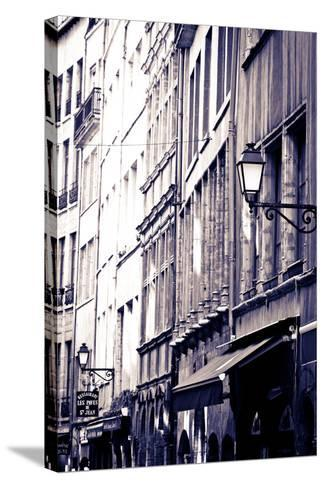 Restaurants and Galleries in Old Town Vieux Lyon, France-Russ Bishop-Stretched Canvas Print