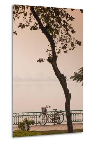 Vietnam, Hanoi. Tay Ho, West Lake, Bicycle-Walter Bibikow-Metal Print