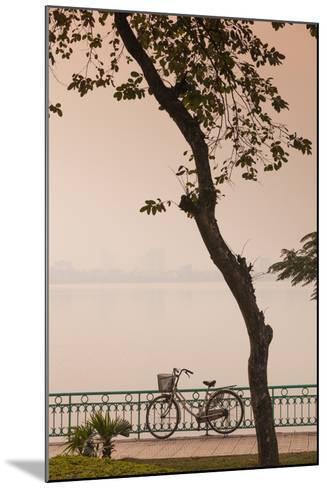Vietnam, Hanoi. Tay Ho, West Lake, Bicycle-Walter Bibikow-Mounted Photographic Print